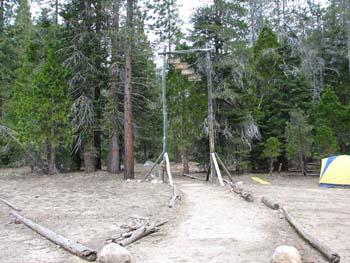 Entrance to Creekside campsite